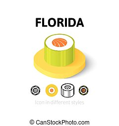 Florida icon in different style
