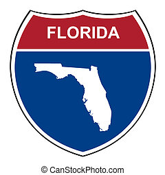 Florida interstate highway shield - Florida American...