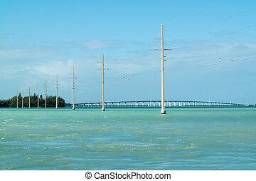 Florida Keys Channel 2 and 5 bridge, USA