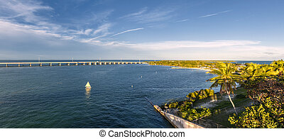 Florida Keys - View of Overseas Highway from historic Rail...