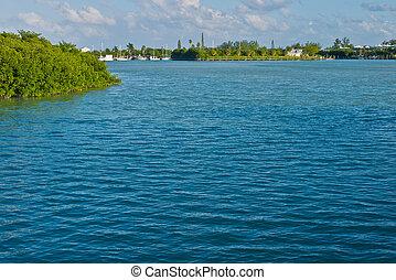 Florida Keys - Water creates copy space in the Florida Keys