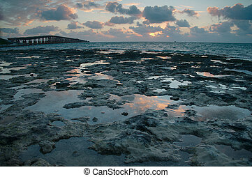 Florida Keys sunrise - Sunrise over ocean in Florida Keys