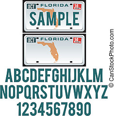 Florida License Plate