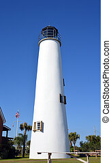 Florida lighthouse and clear blue sky - A photo of a...