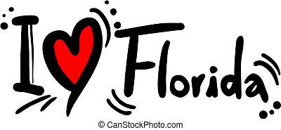 Florida love - Creative design of florida love