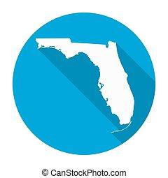 Florida Map Flat Icon