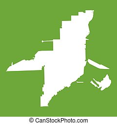Florida map icon green