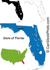Florida map - State of Florida, USA