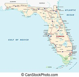 florida map with national parks