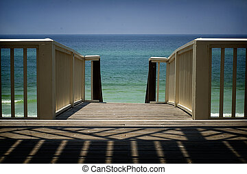 Florida panhandle beach - walkover to beach, Seaside, FL