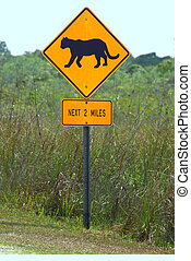 Florida Panthers Highway Sign - Lookout for Florida Panthers...