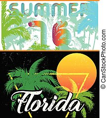Florida Sailing poster design template