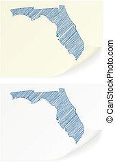 Florida scribble map