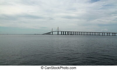 Skyway bridge Tampa Time Lapse