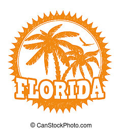 Florida stamp - Florida travel rubber stamp on white, vector...