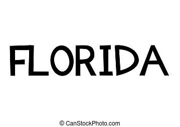 Florida stamp typographic stamp