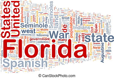 Background concept wordcloud illustration of Florida American state