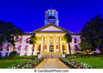 Florida State Capitol - Tallahassee, Florida, USA at the Old...