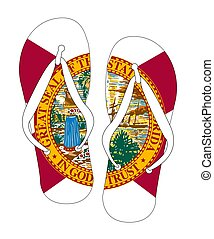 Florida State Flag Flip Flop Shoes
