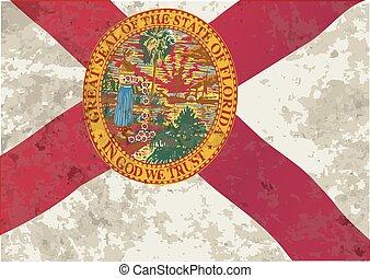 Florida State Flag Grunge