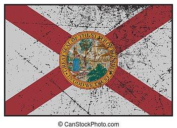 Florida State Flag Grunged