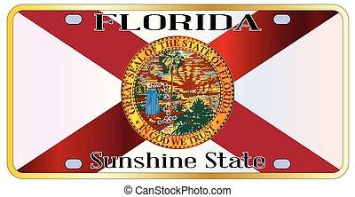 Florida State Flag License Plate - Florida state license...