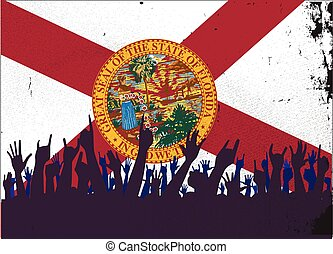 Florida State Flag with Audience