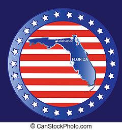 Florida state map - Florida state seal stamp usa