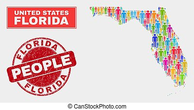 Florida State Map Population Demographics and Dirty Seal
