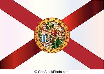 Florida State Metal Flag