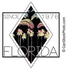 Florida summer poster tee