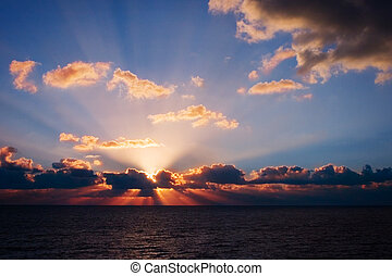 Florida Sunrise - A stunning sunrise shot from the beach of...