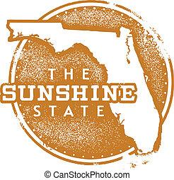 Florida Sunshine State Stamp - Florida USA State Stamp