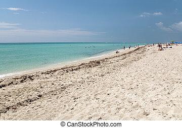 florida, tengerpart, óceán