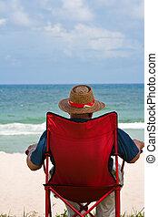 florida, tengerpart, pihenés