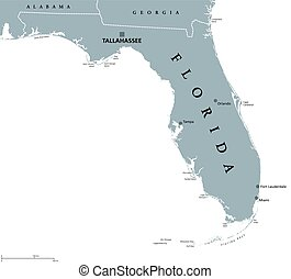 Florida United States political map