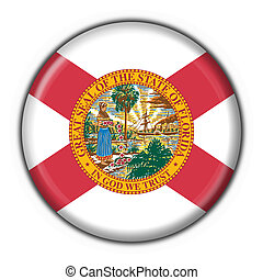 Florida (USA State) button flag round shape