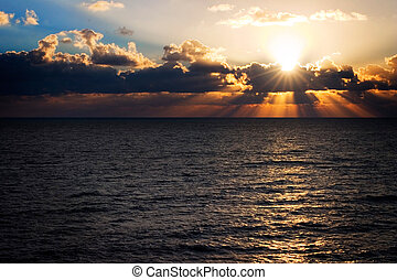 florida, východ slunce
