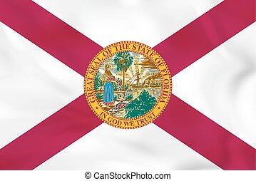 Florida waving flag. Florida state flag background texture.