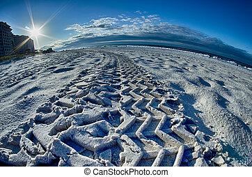 floride, plage, levers de soleil