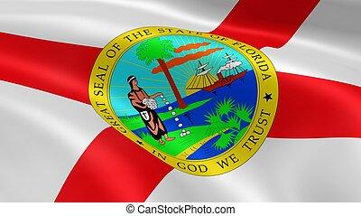 floridian, 旗, 在風