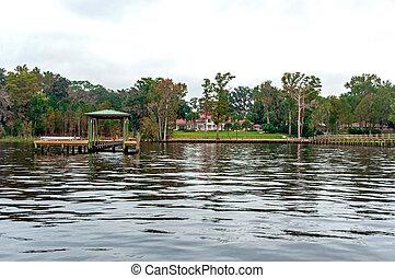 floridian, casas, diques