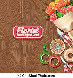 Florist Background Illustration