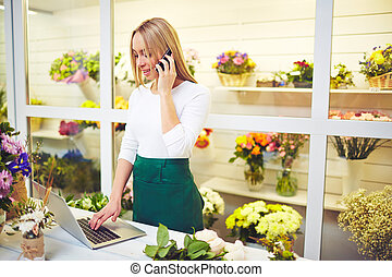 Florist consulting buyers