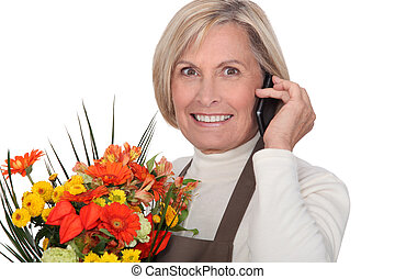 florist on the phone