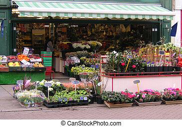 florist shop on a high street