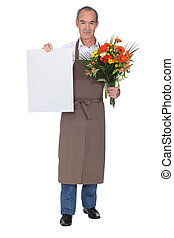 florist showing card