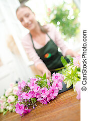 florist with flowers