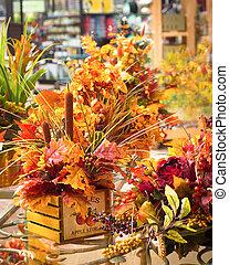 florist's, asztaldísz, bukás