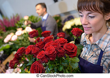 Florists at work